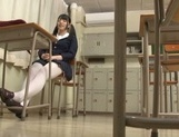 Japanese teen, AI Uehara, masturbating at school picture 5