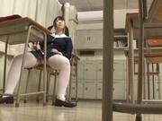 Japanese teen, AI Uehara, masturbating at school