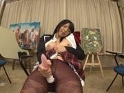 Amateur Ai Uehara shows off masturbating on cam