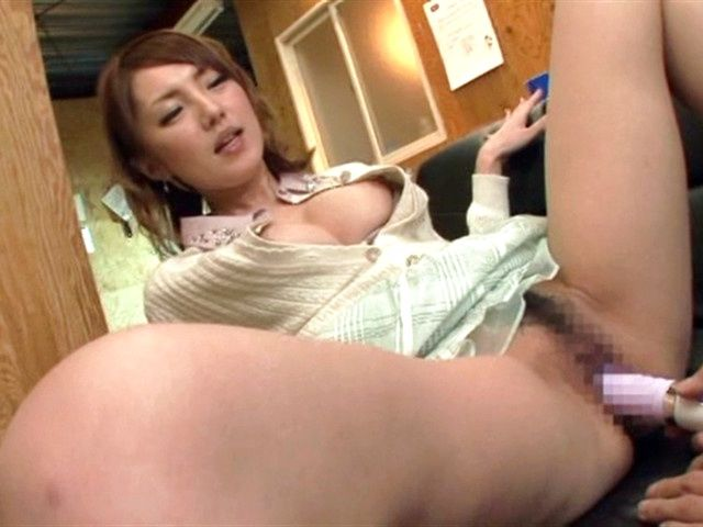 Cute Japanese hottie Tsubasa Amami enjoys dildo insertion