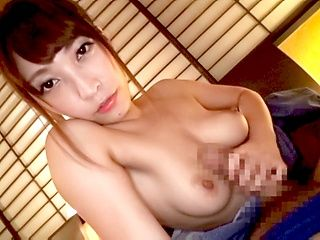 Passionate Japanese sweetheart Kokomi Sakura arranges titfuck on pov