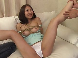 Slender Asian girl with bubble ass Ena Sakura gets her head fucked