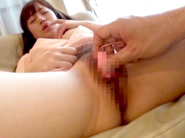 Luscious Japanese AV model gets her pussy poked and pounded