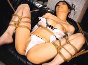 Sweet milf Erina Fujisaki gets tied up and spreads legs to get satisfied
