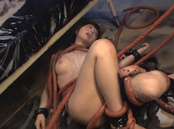 Arousing hot milf Elly Arai gets anal penetration from evil snake creature