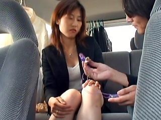 Hot Japanese office lady gets horny and helps herself