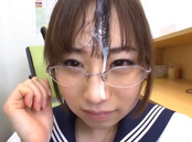 Japanese Sakai Momoka gives blowjon in the library