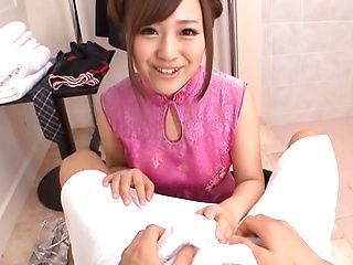 Mashiro Yuuna naughty Asian babe is creamed in hot Asian porn show