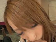 Superb Claire Hasumi enjoys a big hard cock
