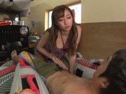 Cumshot on nice ass of hot Claire Hasumi