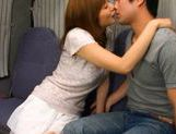 Yuma Asami Lovely Asian doll rides a hard cock picture 13