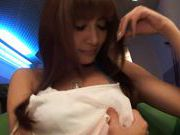 Kirara Asuka Hot Asian doll shows off her body and plays with vibrators