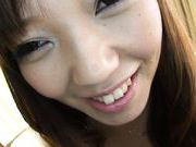 Mei Mura Lovely and sexy Asian beauty with big tits gets cum on them