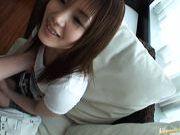 Japanese AV model gets her tits cummed on