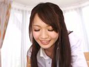 Busty Asian teen Eri Hosaka blows cock like a pro