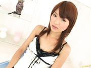 Aoi Amamiya Lovely Asian gal shows off her hot snatch