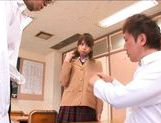 Akiho Yoshizawa Asian teacher gives her students a blowjob