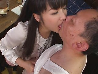 Experienced Japanese milf Miki Sunohara gives some oral services