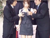 Asian teen Yuuka Minasi nailed by two horny studs picture 11