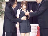 Asian teen Yuuka Minasi nailed by two horny studs picture 12