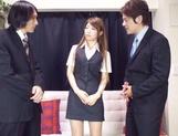Asian teen Yuuka Minasi nailed by two horny studs
