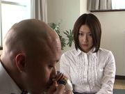 Megumi Haruka milf plays with her vibrator