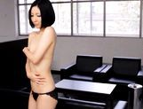 Ryo Sena Naughty Asian doll rubs her hairy pussy picture 15