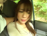 Passionate Asian amateur rubs her slit and sucks cock in a car picture 12