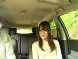 Passionate Asian amateur rubs her slit and sucks cock in a car