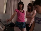 Lovely Japanese teens are horny for some cock picture 13