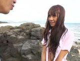 Sexy with Kotomi Asakura outdoors on the beach picture 10
