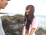 Sexy with Kotomi Asakura outdoors on the beach picture 11
