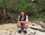 Sexy with Kotomi Asakura outdoors on the beach picture 2