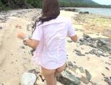 Sexy with Kotomi Asakura outdoors on the beach picture 3