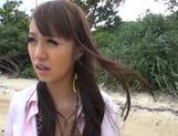 Sexy with Kotomi Asakura outdoors on the beach picture 4
