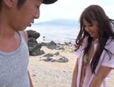 Sexy with Kotomi Asakura outdoors on the beach picture 8