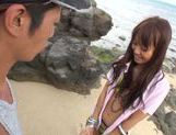 Sexy with Kotomi Asakura outdoors on the beach picture 9