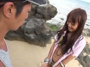 Sexy with Kotomi Asakura outdoors on the beach