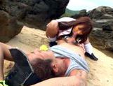 Sexy with Kotomi Asakura outdoors on the beachasian schoolgirl, asian girls}