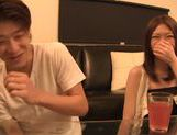 Japanese Av gal deepthroats and gets her trimmed pussy smacked picture 12