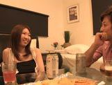Japanese Av gal deepthroats and gets her trimmed pussy smacked picture 13