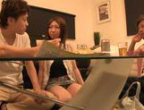 Japanese Av gal deepthroats and gets her trimmed pussy smacked picture 15