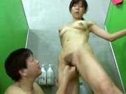 Sweet mature Japanese hottie enjoys rear bang in a showeryoung asian, asian babe}