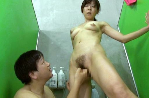 Sweet mature Japanese hottie enjoys rear bang in a shower