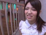 Charming Asian teen gal Azusa Akena gets amazing titfuck picture 12