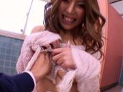 Asian doll Haruka Sanada gets fucked hard