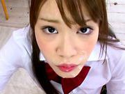 Young Rika Oosawa enjoys a huge dick in her mouthfucking asian, japanese pussy}