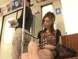 Naughty Asian model Arisa Aizawa gets fucked in a public place