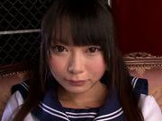 Glorious Japanese teen Arina Sakita gets fucked on POV
