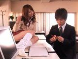 Akiho Yoshizawa Asian model is hot in her school uniform picture 13